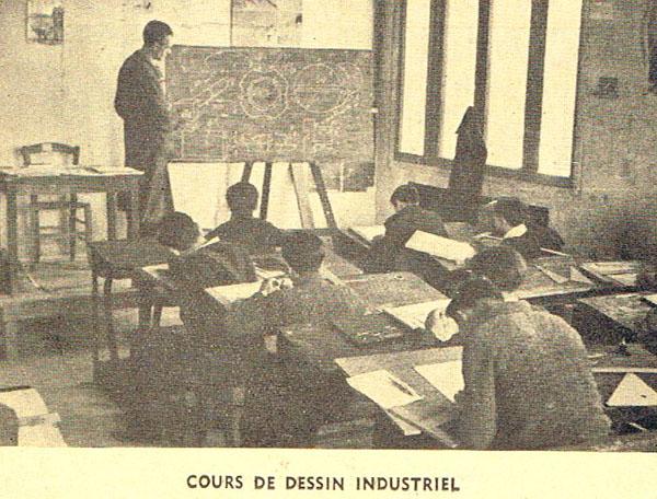 Cours de dessin industriel.