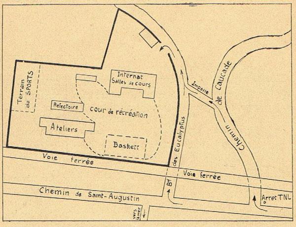 Plan du centre Larmarque en 1946