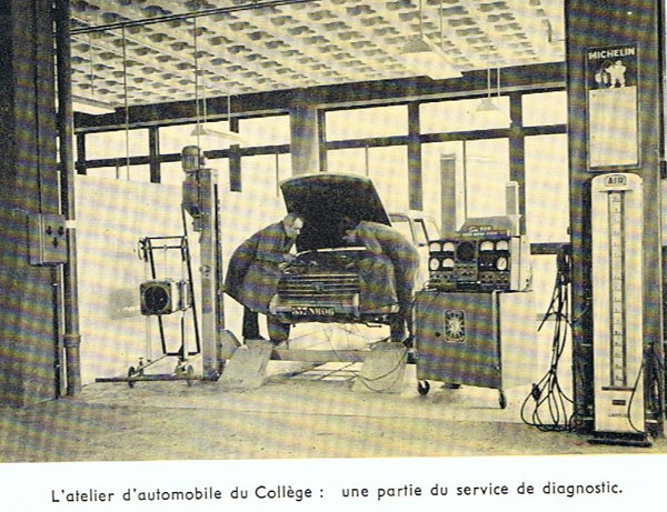 Diagnostic automobile en 1964.