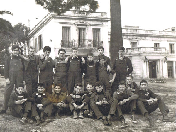 Classe d'apprentis en 1956.
